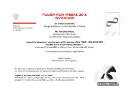 Polish Film Week 2015 I