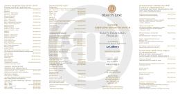 Cennik zabiegów kosmetycznych Beauty Treatments icelist