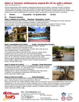 Pobierz program w PDF - Alco