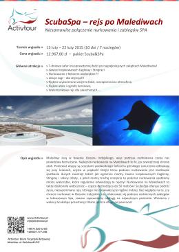 ScubaSpa – rejs po Malediwach
