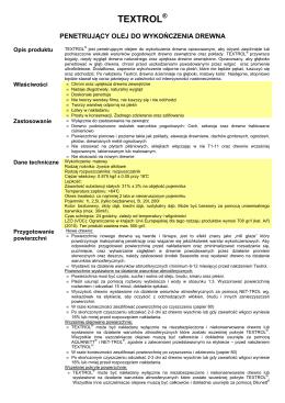 Opis produktu, specyfikacja, wydajość - PDF