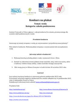 Konkurs na plakat - Institut français Pologne