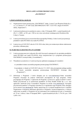 Regulamin_LOTERII_Dachomat - Play Print Polska Sp. z o.o.