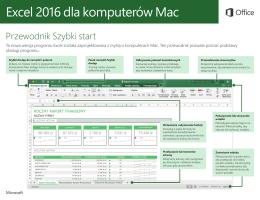 Excel 2016 dla komputerów Mac