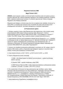 Regulamin konkursu - Media Service Zawada