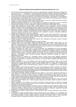 Warunki sprzedaży - Wesling Kruszywa sp. z oo
