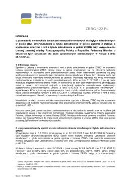 ZRBG 122 PL - Deutsche Rentenversicherung