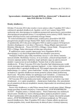 sprawozdanie z działalności za 2014r