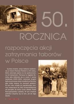 50. rocznica rozpoczęcia akcji zatrzymania taborów w Polsce
