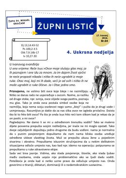 župni listić - Župa Sv. Mihaela