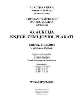 43. aukcija knjige, zemljovidi, plakati