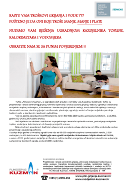 Promo brošura - Plinoservis Kuzman