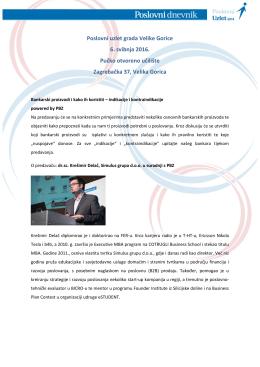 Poslovni uzlet grada Velike Gorice 6. svibnja 2016. Pučko otvoreno