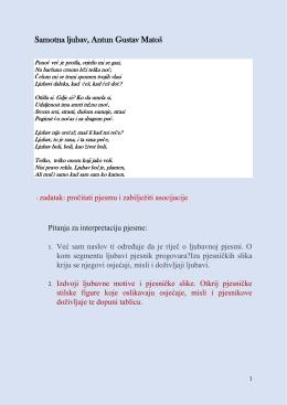 Samotna ljubav, Antun Gustav Matoš