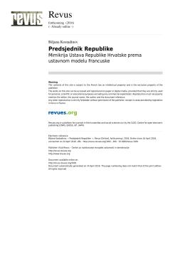 Predsjednik Republike - Revus