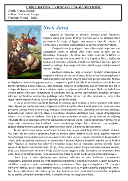 Župni listić 17.04.2016 - Župa Sveti Križ Začretje