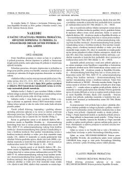 narodne novine - Porezna uprava