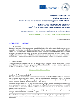 Mobilnost - Sveučilište Josipa Jurja Strossmayera u Osijeku