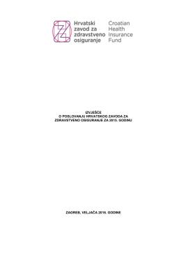 Izvješće o poslovanju HZZO-a za 2015. godinu