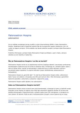 Palonosetron Hospira, INN-palonosetron
