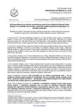 Sud presuđuje da se obveza nacionalnog suda - curia