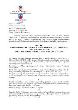 Odluka - Općina Tisno