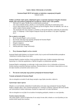 Uputa o lijeku: Informacija za korisnika Insuman