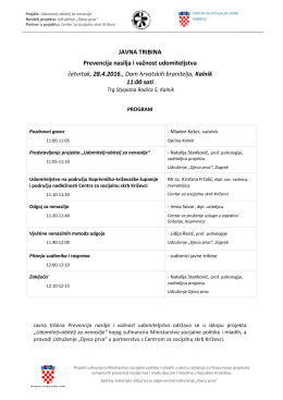 program javne tribine