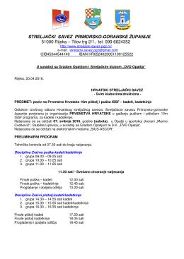 STRELJAČKI SAVEZ PRIMORSKO-GORANSKE ŽUPANIJE 51000