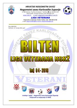 Bilten broj 4 - Hrvatski nogometni savez