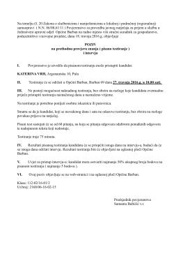 Poziv za testiranje u PDF-dokumentu možete pogledati ovdje.