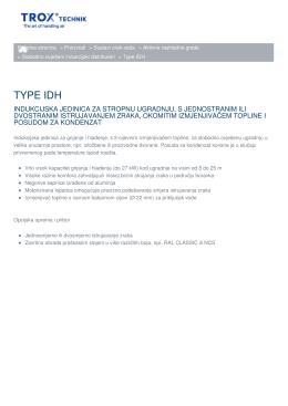 TYPE IDH - Početna stranica
