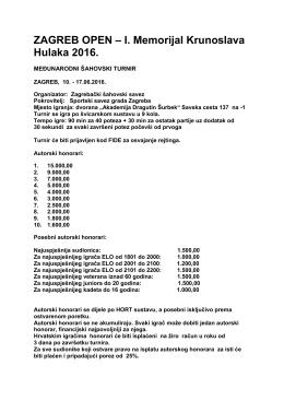 Raspis - Hrvatski šahovski savez