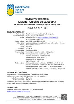 Propozicije - Zagrebački Teniski Savez