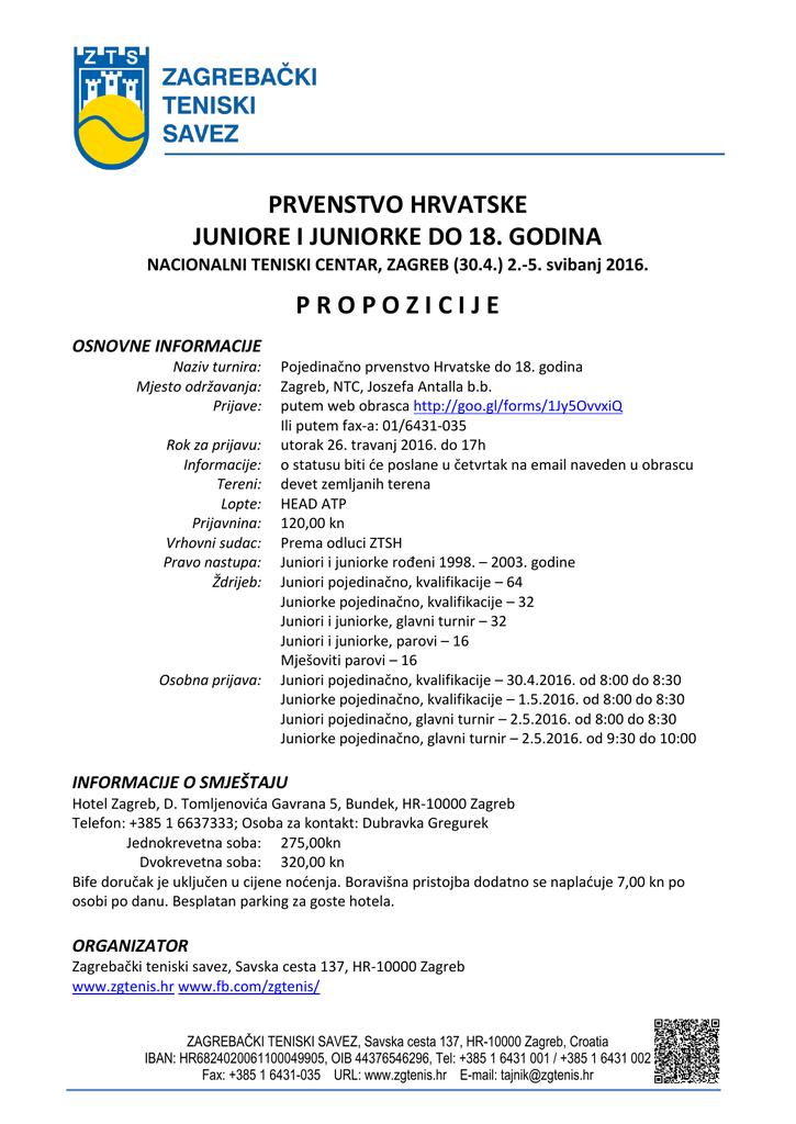 Propozicije Zagrebacki Teniski Savez