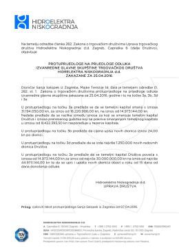 Na temelju odredbe članka 282. Zakona o trgovačkim društvima