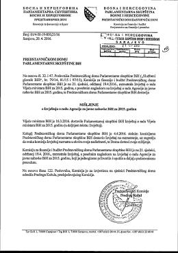 (B) Misljenje (AJN) - KFB PD - Parlamentarna skupština Bosne i