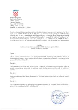 Republika Hrvatska Karlovačka Županija Klasa