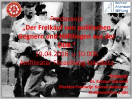 19.04.2016. u 10.00h Amfiteatar Filozofskog f