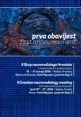 II Skup neuroradiologa Hrvatske II Croatian neuroradiology meeting