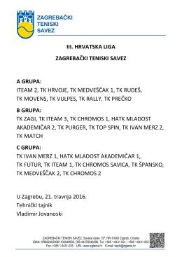 Preuzmi raspored - Zagrebački Teniski Savez