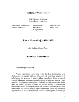 Rat u Hrvatskoj, 1991-1995