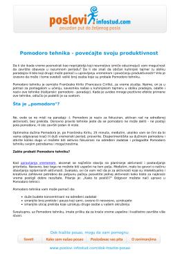 Sačuvajte u PDF-u - Poslovi Infostud