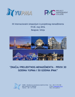 XX Internacionalni simpozijum iz projektnog menadžmenta