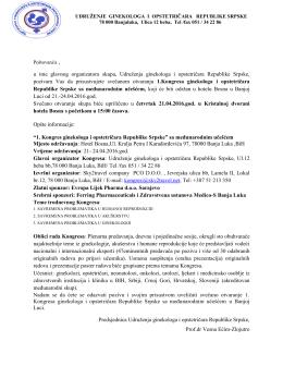1.Kongres ginekologa i opstetričara Republike Srpske