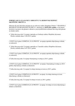 Formular za glasanje u odstustvu