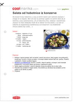 Salata od hobotnice iz konzerve
