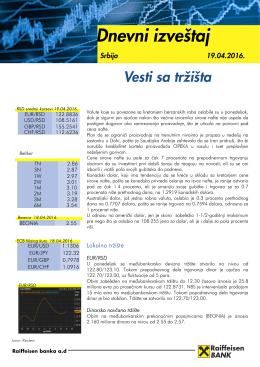 Vesti sa tržišta Valute koje su povezane sa kretanjem