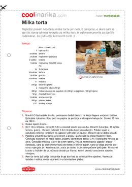 Milka torta - Coolinarika