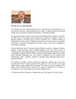 Prof. Dr. Dr. h.c. mult. Šineman Dr. Šineman je čuveni nemački